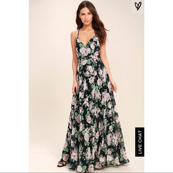 a813697871e LuLu s Floral Maxi Wedding Guest Dress